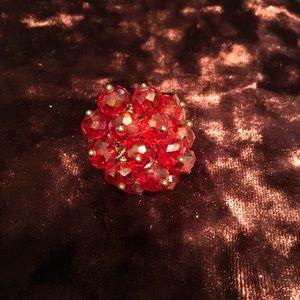 Red cluster ring adjustable. 2/$10 Sale